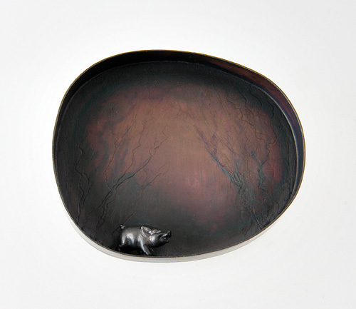 Philosophy of Loneliness, brooch, 2008, silver, patina, 60 mm