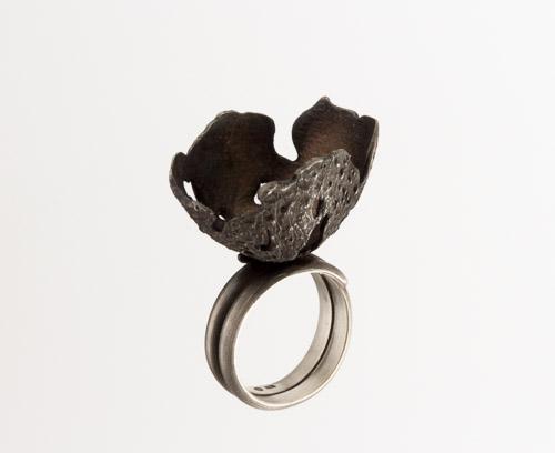 Random Processes, ring, 2018, silver, patina, 35 mm