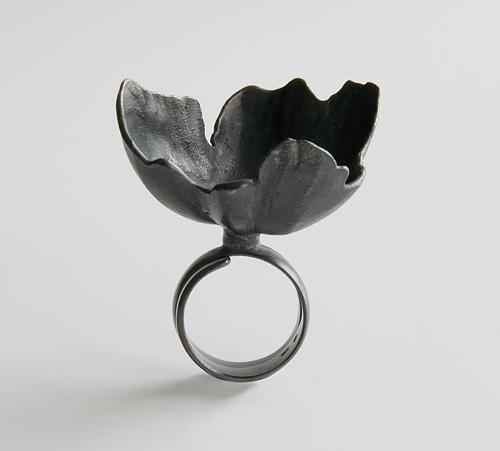Random Processes, ring, 2009, silver, patina, 40 mm