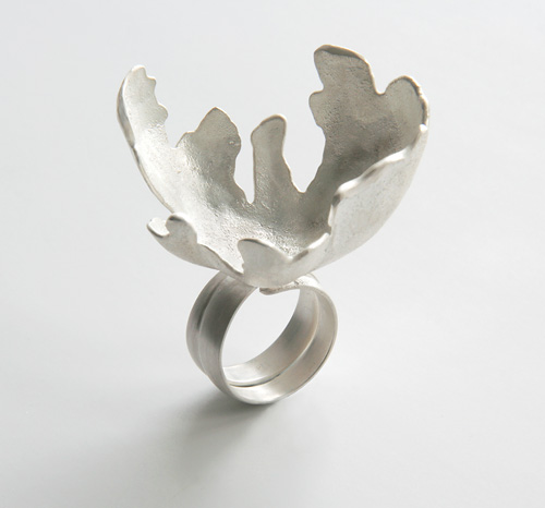 Random Processes, ring, 2009, silver, 40 mm