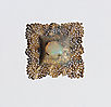 Recollection of Memories, brooch, 2013, silver, patina, opal,  55 mm